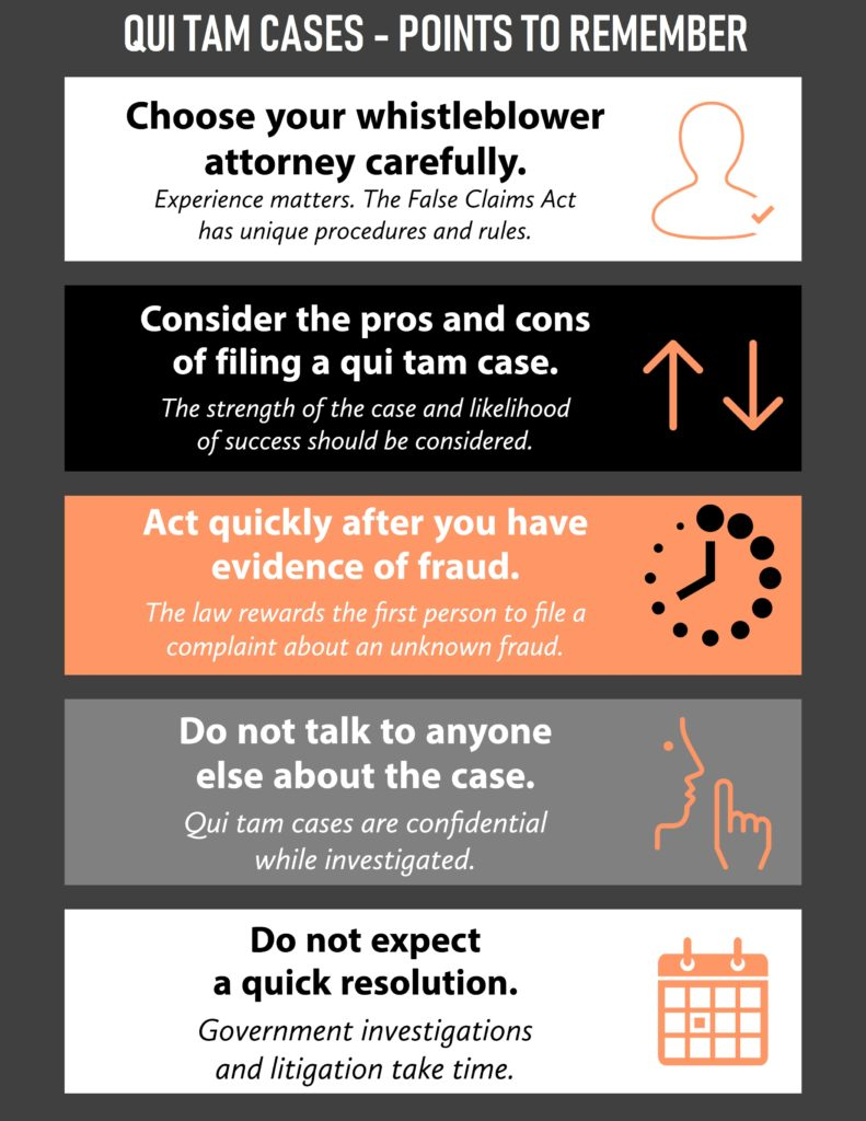 qui tam cases - points to remember